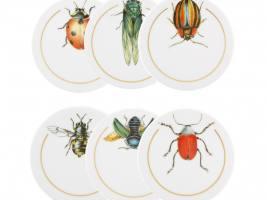 INSETOS Набор из 6 тарелок (подставок) под стаканы