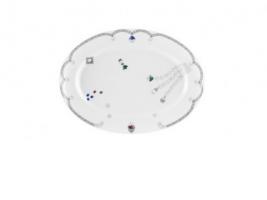 Овальная столовая тарелка Ma Russie Gemstones.