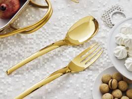 Ложка и вилка в подарочной упаковке Living PVD Gold SAMBONET
