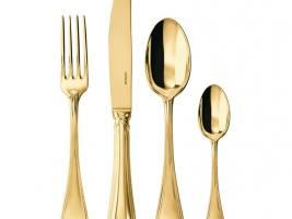 Столовый набор, 24 предметов  PVD Tin Gold SAMBONET