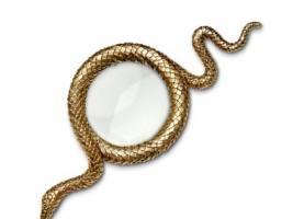 Snake Gold Увеличительное стекло