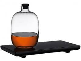NUDE MALT графин для виски с деревянной подставкой
