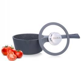 DUKA Gota cook кастрюля с крышкой 1 л. черный/серый