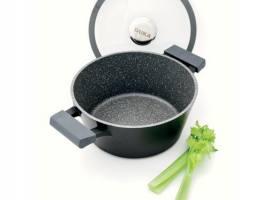 DUKA Gota cook сотейник с крышкой 2.4 л. черный/серый