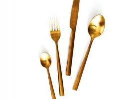 DUKA Ester Gold набор столовых приборов 16 предметов