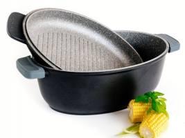 DUKA Gota Cook гусятница с жаровней черная